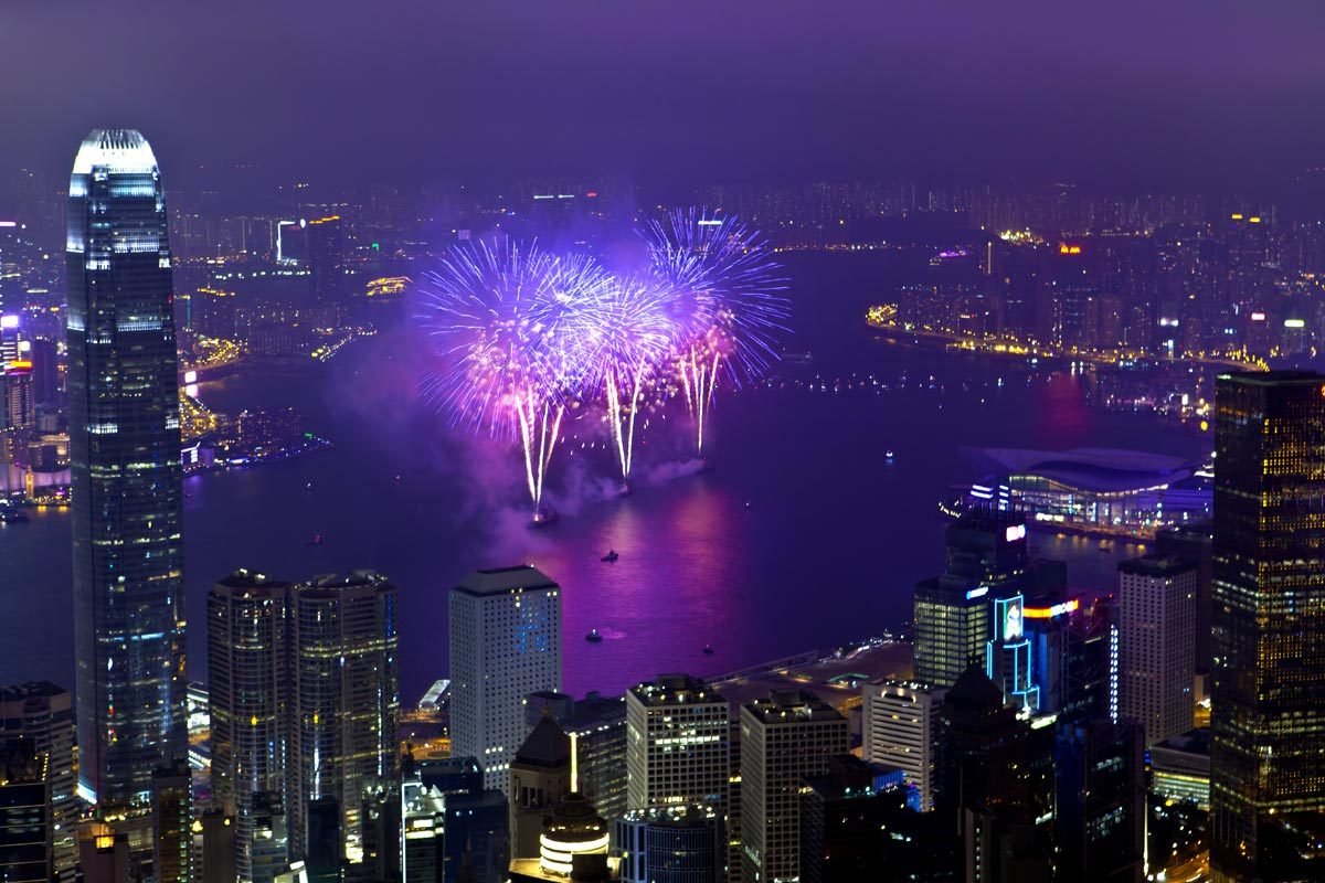 Nouvel an chinois à Hong Kong