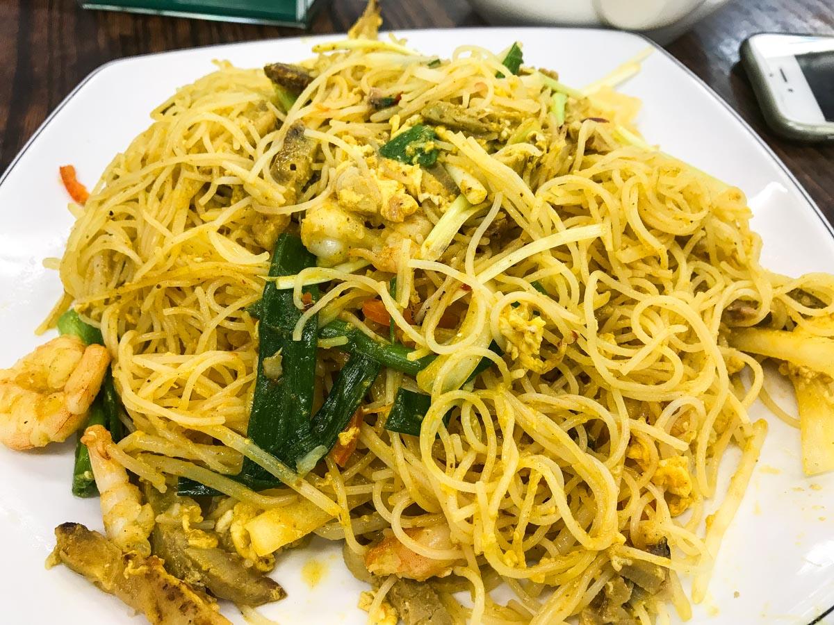 Plat de nouilles végétariennes Lin Heung Kui à Hong Kong